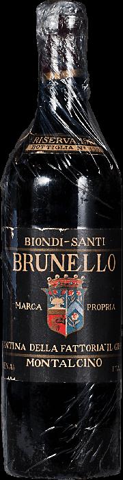 Brunello di Montalcino Biondi Santi Riserva 1957 0.75 lt.