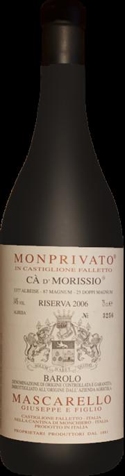 Giuseppe Mascarello e Figlio Barolo Monprivato Ca d' Morissio Riserva 2006 0.75 lt.